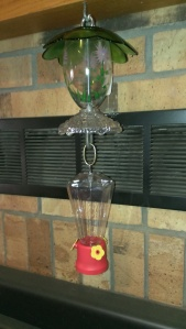 My fancy Hummingbird feeder from Holton's Fall Festival Oct. 11, 2014 (1)