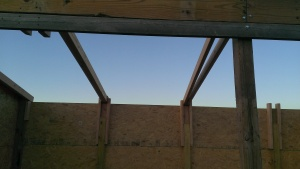 November 11, 2014 Progress on the calf shed (1)