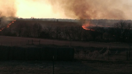 March 11, 2015 Burning the CRP land to the east (10)