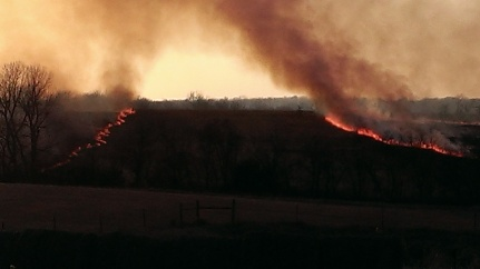 March 11, 2015 Burning the CRP land to the east (12)