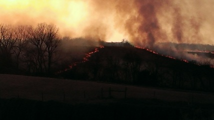 March 11, 2015 Burning the CRP land to the east (13)