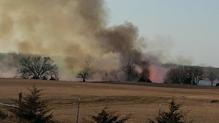March 11, 2015 Burning the CRP land to the east (2)