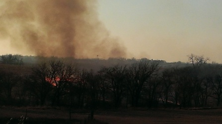 March 11, 2015 Burning the CRP land to the east (4)