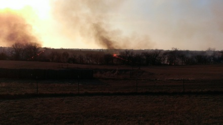 March 11, 2015 Burning the CRP land to the east (7)