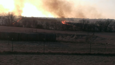 March 11, 2015 Burning the CRP land to the east (9)