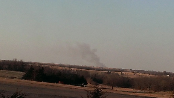 March 11, 2015 smoke on the horizon from fires (1)