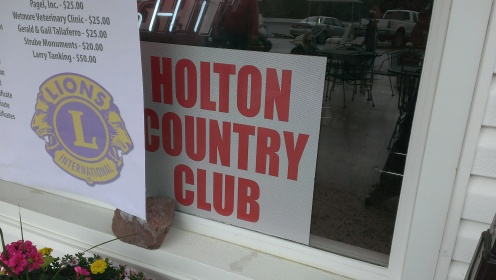 May 2, 2015 Holton Lions Club  First Annual Golf Tournament fundraiser. Serving brats, hotdogs, chips and water to the teams (8)