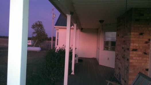 2015 October 10 A gorgeous sunset from our north porch. Even the house has a rosey glow (4)